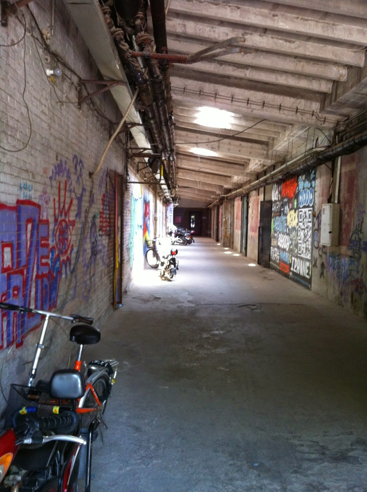 alleys in the 798 art district