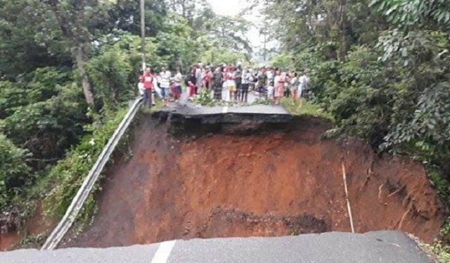 Jalur Jalan Lahat - Pagaralam Sumsel Putus Total