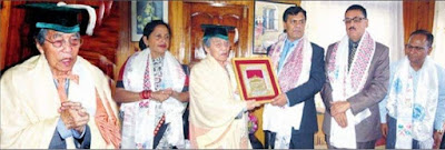Indra Bahadur Rai conferred with Doctor of Letters degrees honour