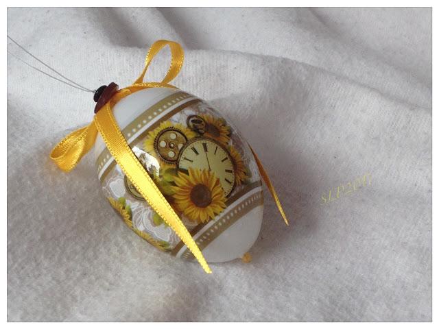 pääsiäismuna kutistemuovi auringonkukka keltainen