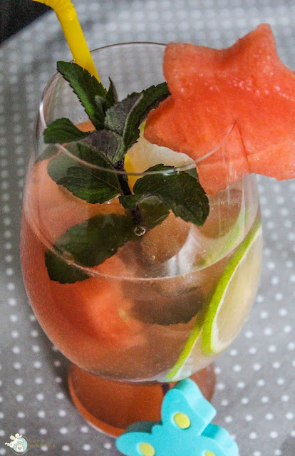 infused water melone minze rezept