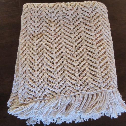 Arrowhead Lace Blanket - Free Pattern