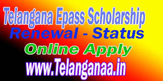 TS Telangana ePass Postmatric scholarship for Renewal Online