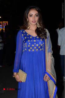 Telugu Actress Tejaswi Madivada Pos in Blue Long Dress at Nanna Nenu Na Boyfriends Audio Launch  0026.JPG