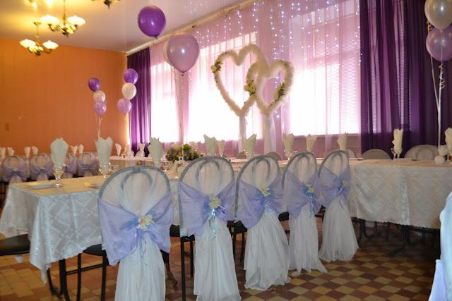 Вид на середину свадебного оформления