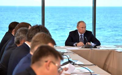 Vladimir Putin at a meeting on development of Baikal natural area.
