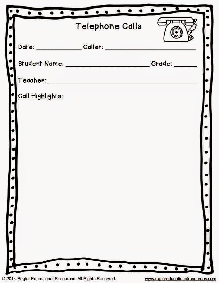 Classroom Freebies Too: Parent Communication Templates