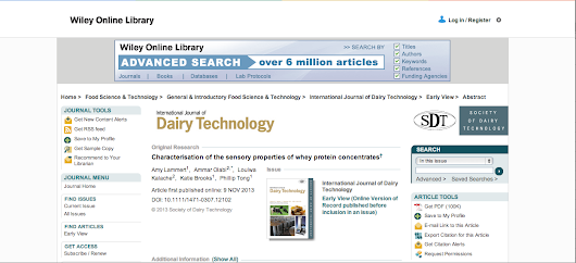 Published in International Journal of Dairy Technology