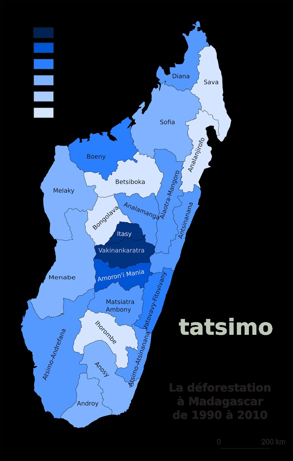 Carte De Madagascar Png.Tatsimo Carte De La Deforestation A Madagascar De 1990 A 2010