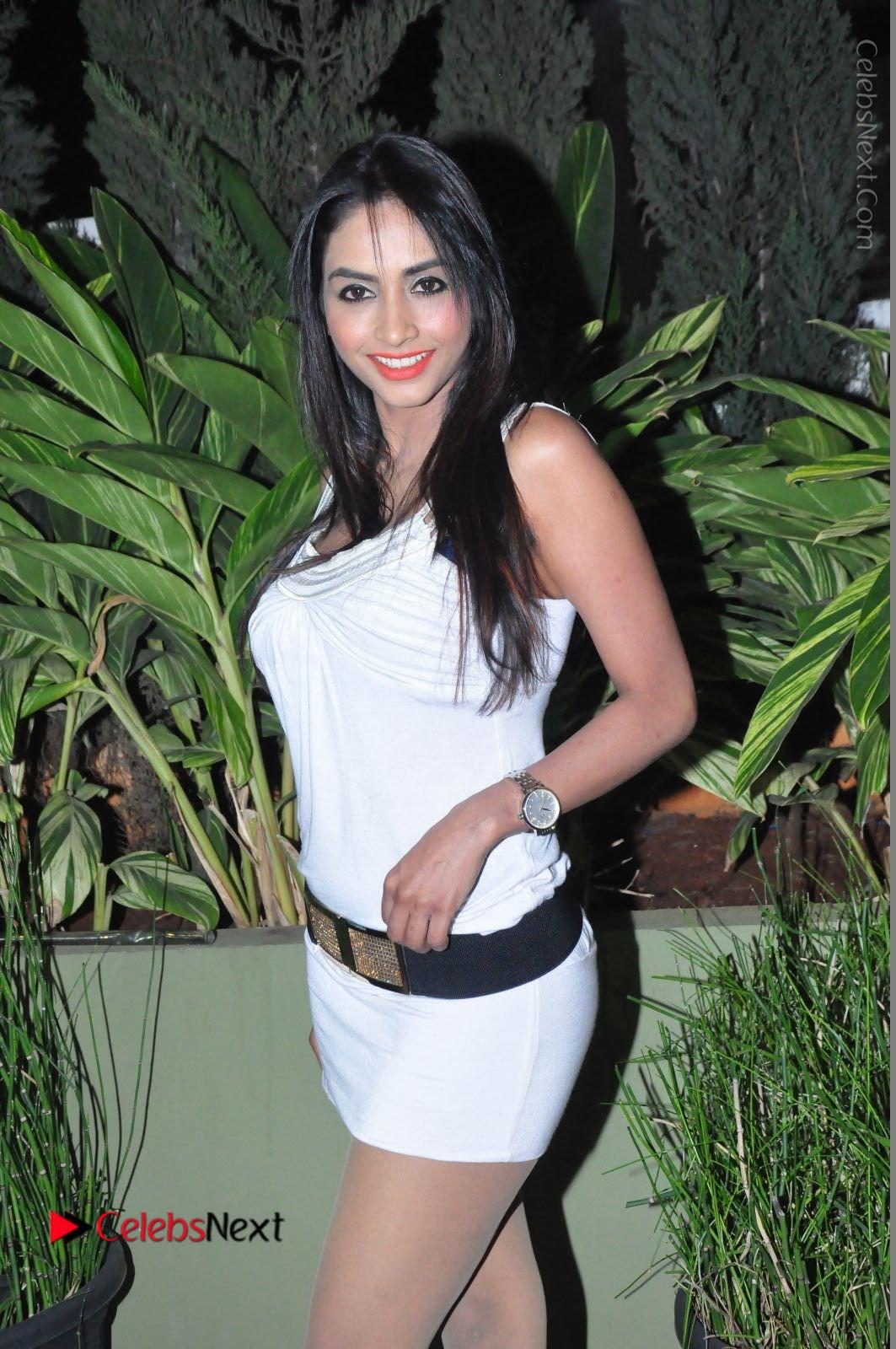 Pooja Sri Stills in White Short Dress at F Club pre soft launch by chocolate boy Group at film nagar