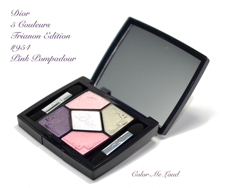 Palette fards à paupières, dior, 5 couleurs trianon edition, n°954.