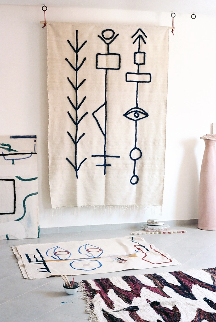 design inspiration, moroccan rugs, lrnce, interior inspiration, morocco, moroccan attire, Handmade interior, graphic rugs, graphic wall hanging