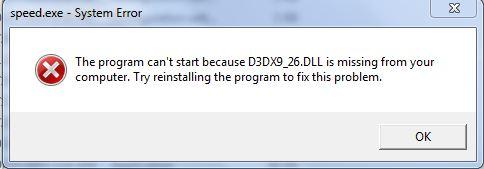 تحميل ملف D3dx9 26 Dll للعبة كراش تحميل ملفات Dll كاملة