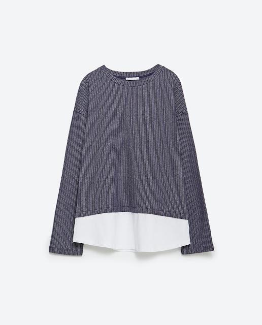 Zara combined sweatshirt
