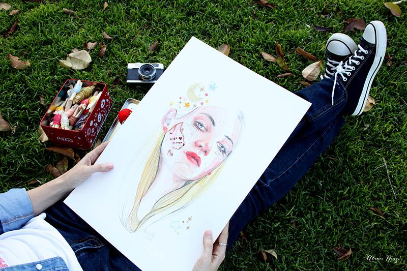 Almu Ruiz borda ilustraciones originales de Ana Santos
