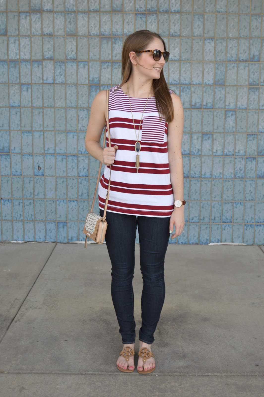 summer outfit ideas |  what to wear this summer | tory burch miller sandals | summer lookbook | summer style | fourth of july outfit ideas | what to wear this labor day | patriotic outfit ideas | a memory of us