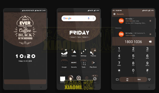 MIUI Theme Coffee Paid Lite Mtz For Xiaomi Redmi V8 / V9 Terbaru