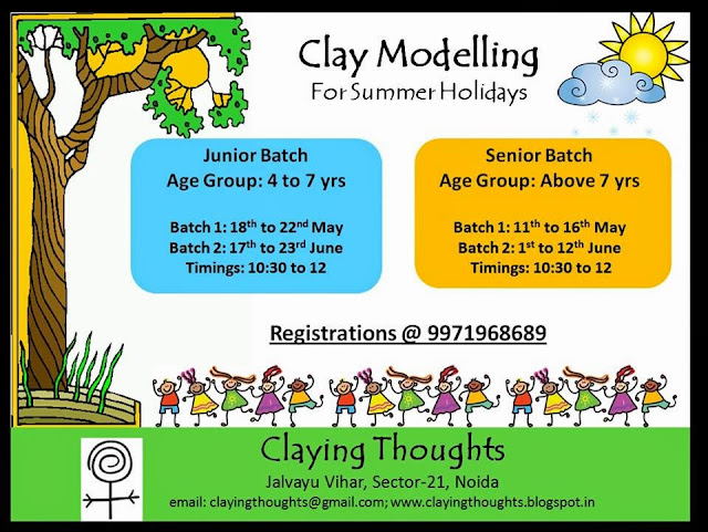 Clay Modelling Workshop for Kids in Noida