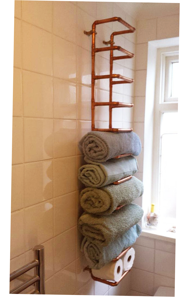 Bathroom towel storage ideas creative 2016 ellecrafts for Bathroom towel storage