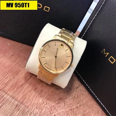 Đồng hồ nam Movado MV 950T1 mặt vàng