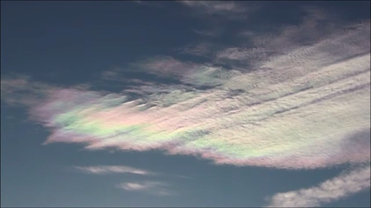 Rainbow clouds, colourful sky october 2014