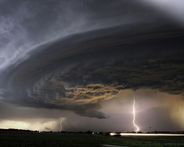 Lightning under a Supercell