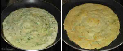 Moong dal and chana dal dosa - step 5