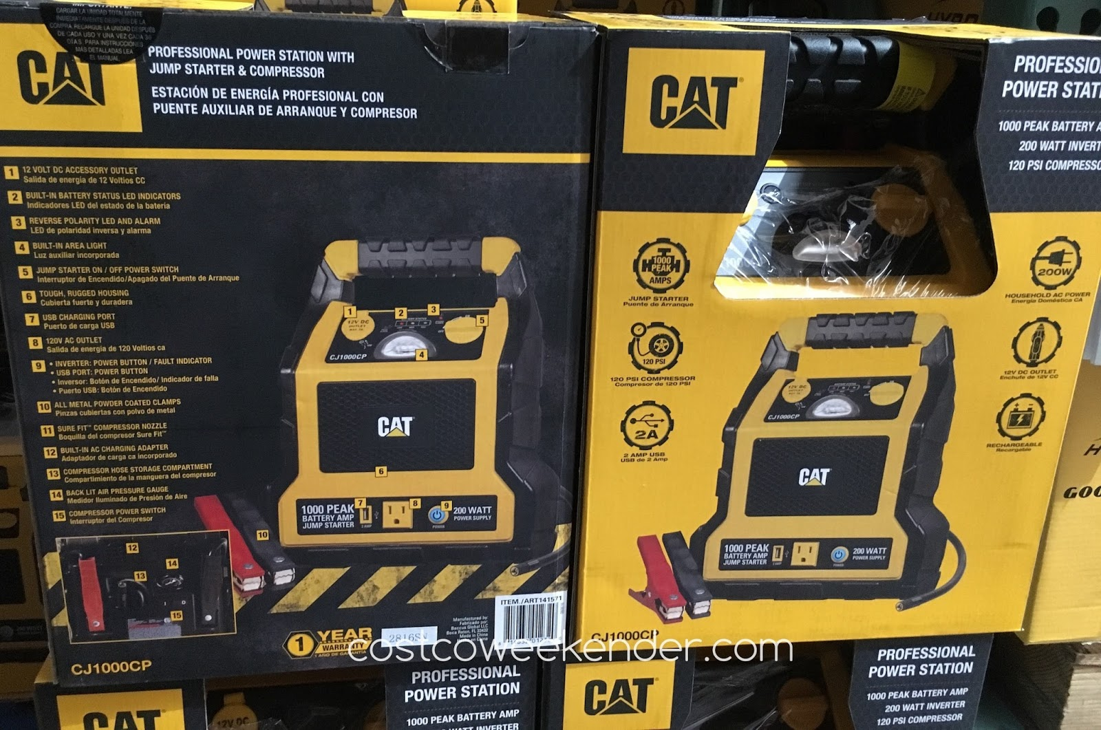 Cat Cj1000cp Professioinal Power Station With Jump Starter And