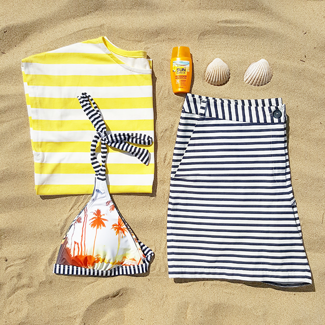 Bikini, Strand, beach, stripes, streifen, Burda style, DIY, nähen, sewing