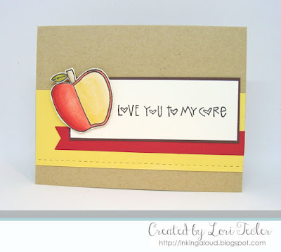 Love You to My Core card-designed by Lori Tecler/Inking Aloud-stamps and dies from Paper Smooches