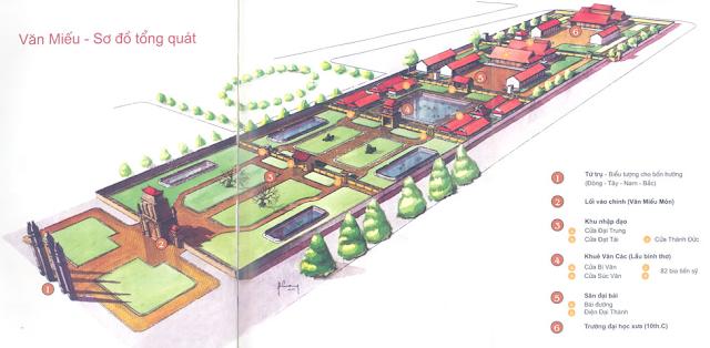 Hanoi temple of literature map