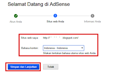 akan tetapi tidak ada salahnya untuk saya share atau menawarkan panduan lengkap tata cara Cara Mendaftar Google Adsense dari Blog