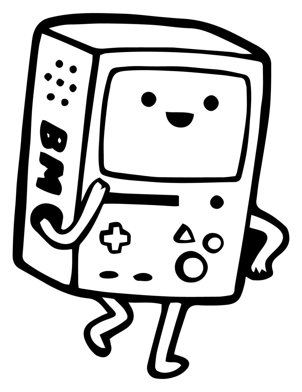 bmo from adventure time coloring pages