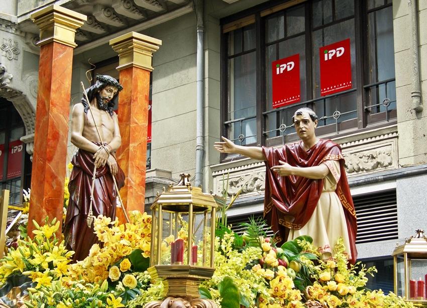 Paso del Ecce Homo. Cofradía del Dulce Nombre de Jesús Nazareno. León. Foto A. Márquez.