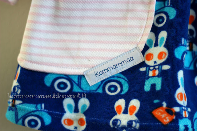 ob busy forest 4/2015 mekko tunika taskullinen pupu joustofrotee sininen