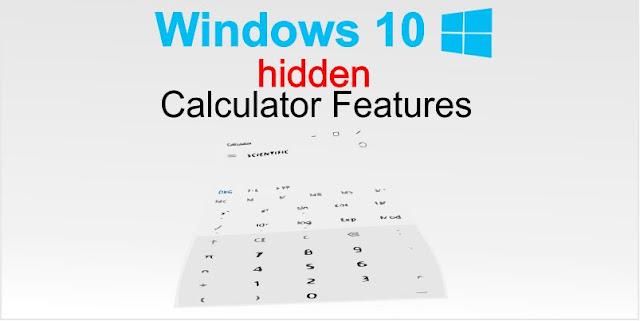 Windows 10 Calculator hidden features