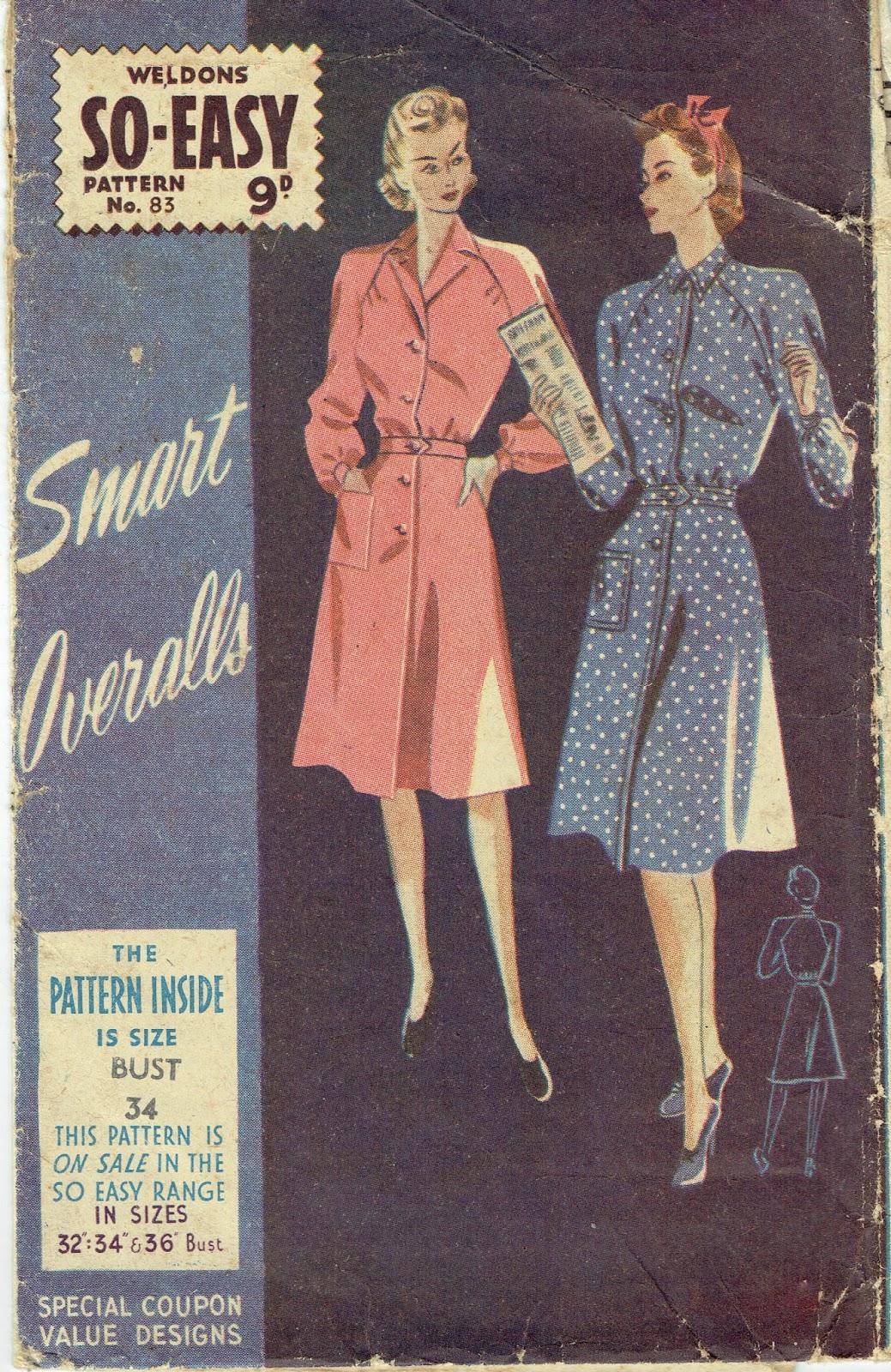 Unsung Sewing Patterns: Weldons No. 83 - Smart Overalls