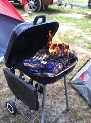 parrilla asadora de carne