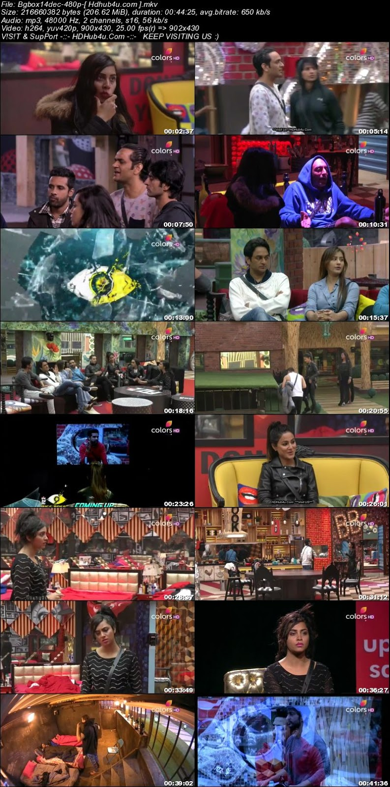 Bigg Boss S11E75 14th December 2017 HDTV 480p 200MB Download