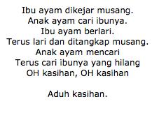 Lirik Lagu Ibu Ayam Dikerjar Musang Ost Upin & Ipin
