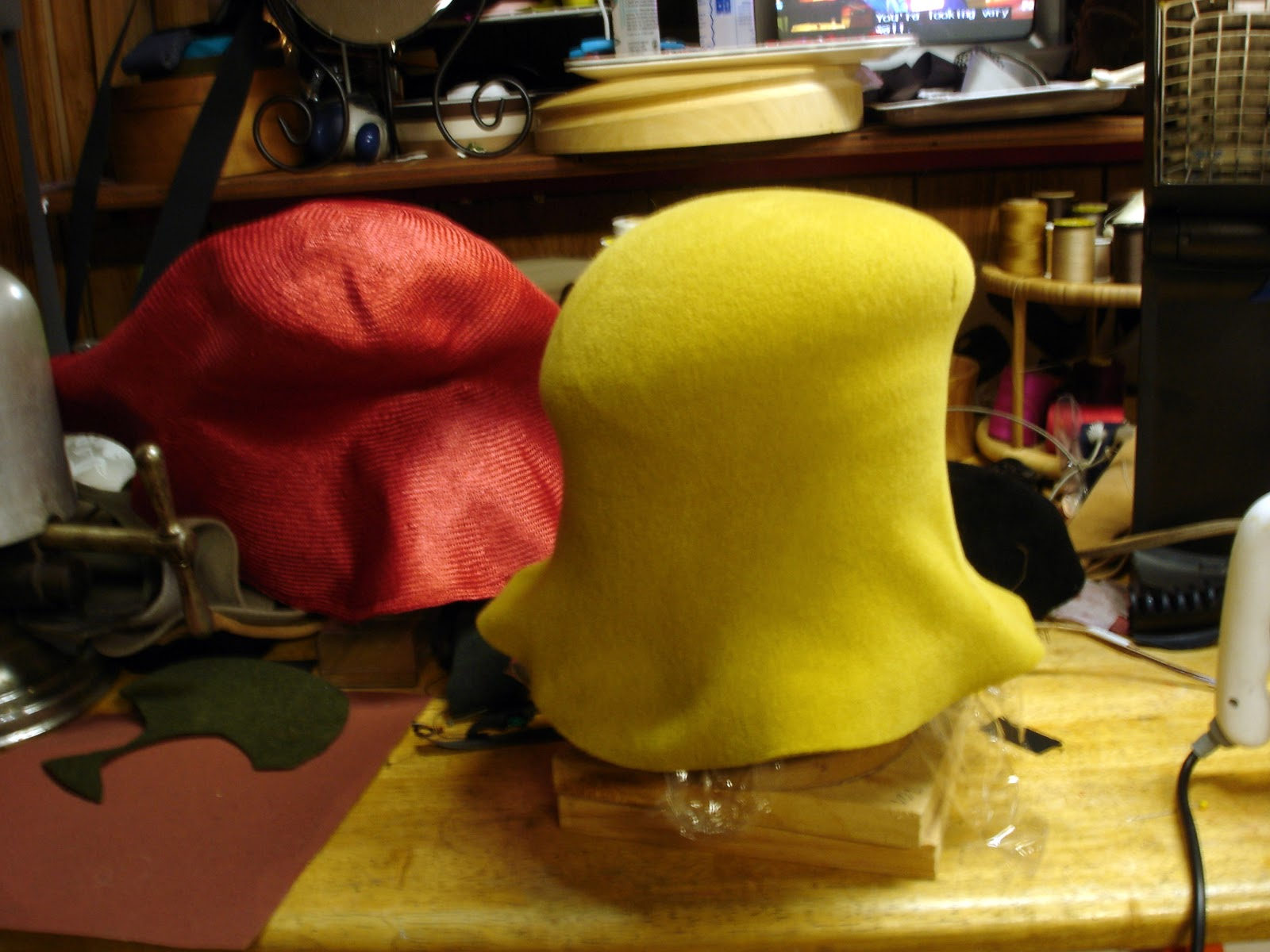 THE MILLINERY SHOP: Handmade Hats by MARCIA LACHER: Blocking