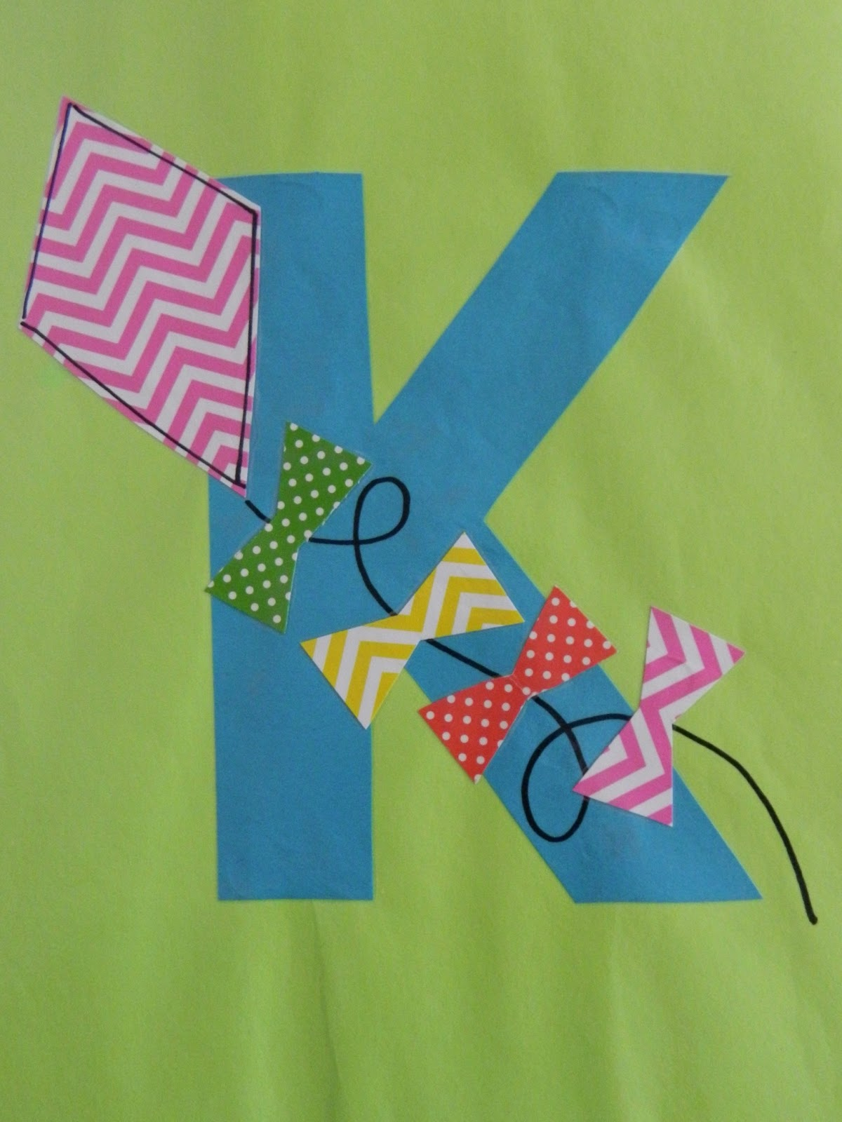 letter k crafts the vintage umbrella preschool alphabet projects 22893 | DSCN7830