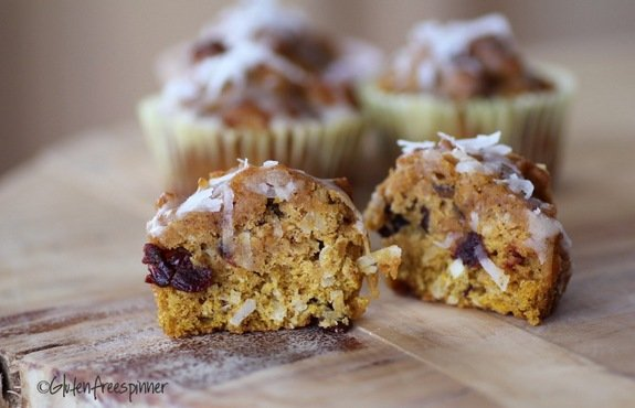 Pumpkin Sunrise Muffins from Gluten Free Spinner