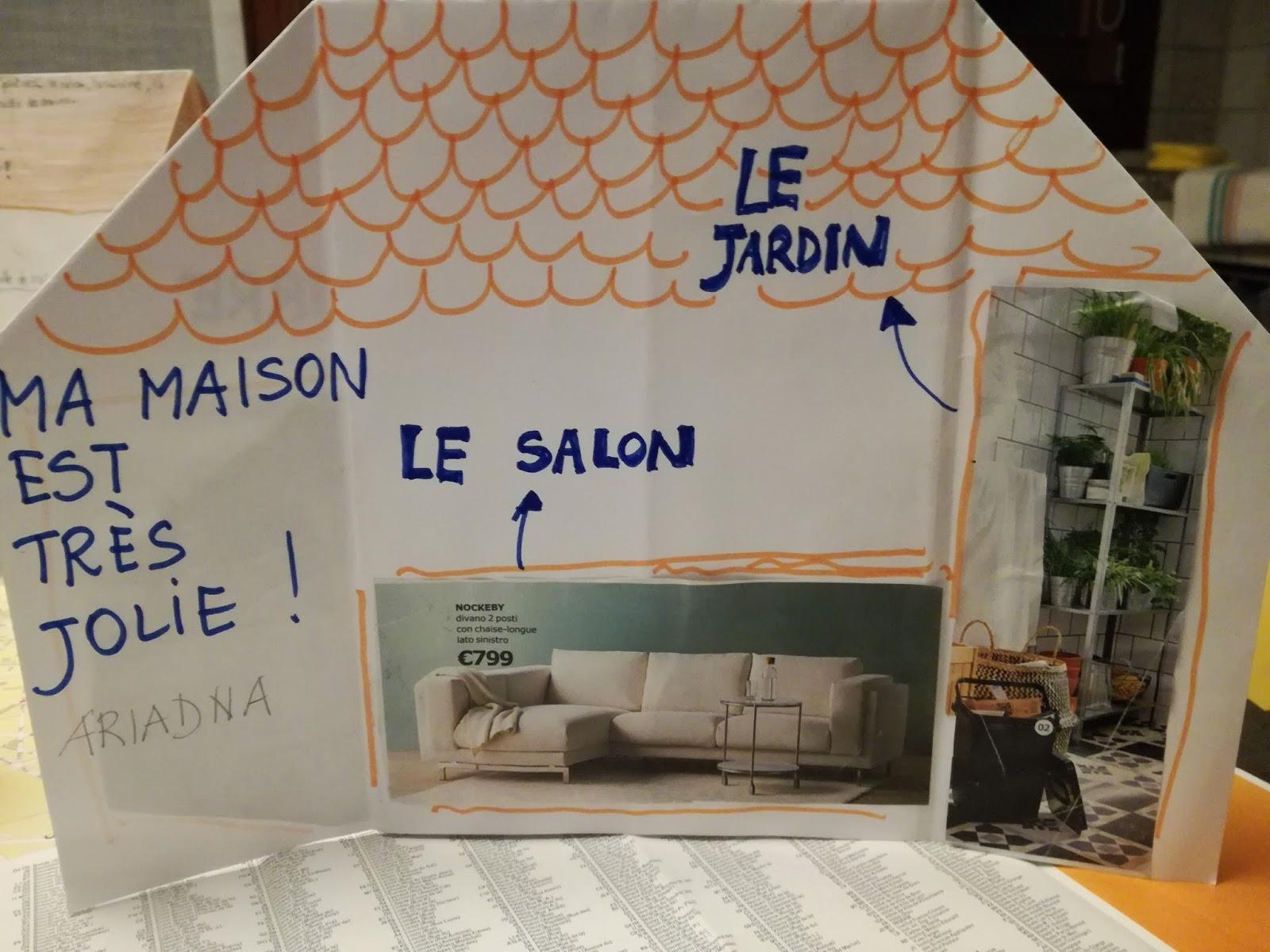 Parlo francese je d cris ma maison for Je dessine ma maison