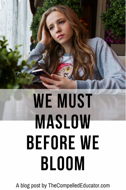Maslow over Bloom by @Jennifer_Hogan