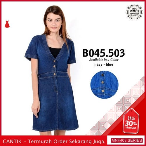 MNF403D113 Dress 045503 Wanita Denim Jeans Dress terbaru 2019 BMGShop