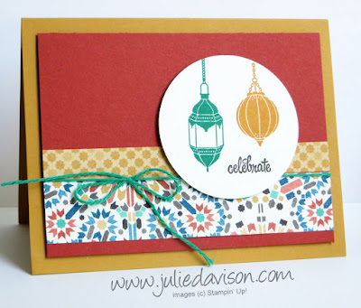 Stampin' Up! Moroccan Nights masculine card #stampinup www.juliedavison.com