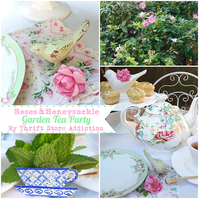 My Thrift Store Addiction garden tea party