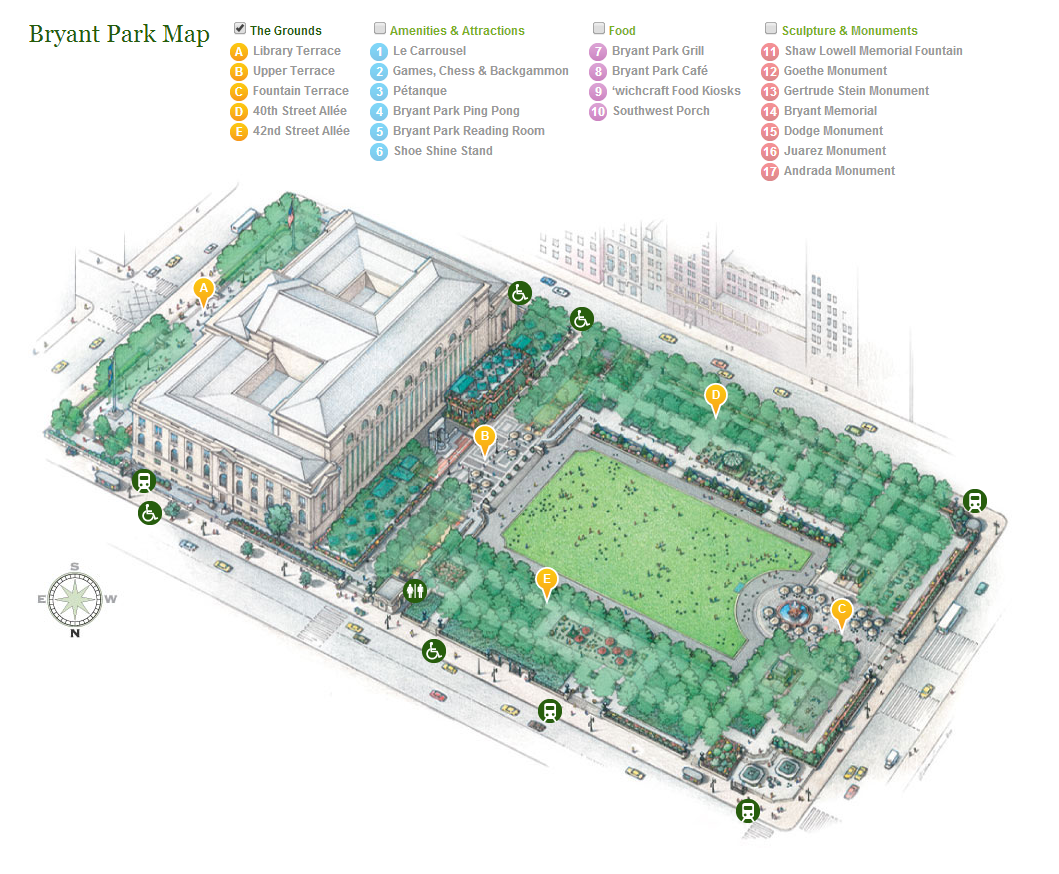 Bryant Park Map Bryant Park Blog: Ask Bryant Park: Where Can I Get A Park Map?