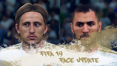 FIFA 19 Facepack Luka Modrić & Karim Benzema by CrazyRabbit